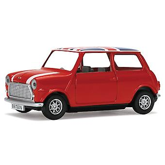 Mini Cooper with Union Jack Roof Diecast Model Car