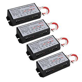 4 x noir AC110V à 12v Transformateur électronique Modèle Pièces d'éclairage 160W