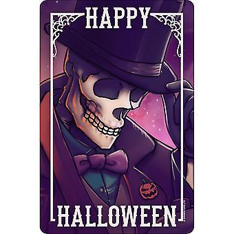 Greet Tin Card Happy Halloween Plaque