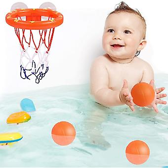 Fun bath basketball toy hoop & ball set with 3 balls for kids cai1618