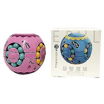 Pink finger magic bean burger rubik's cube, children's intelligence gyro fingertip spin cube az5303