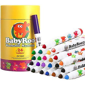 Baby Roo - 24 kolorowe zmywalne markery