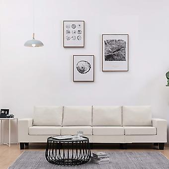 vidaXL 4-Sitzer-Sofa Creme Stoff
