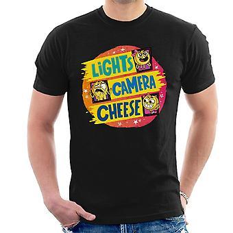 Pojke flicka hund katt mus ost ljus kamera ost män t-shirt