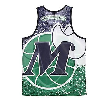 Mitchell & Ness Nba Dallas Mavericks Tank Top MSTKAJ19070DMADKGN basketball hele året menn t-skjorte