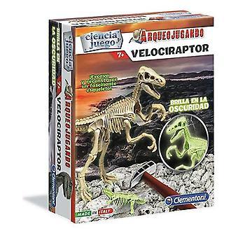 Tiedepeli Velociraptor Clementoni (ES) (6 x 19,5 x 24 cm)