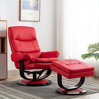 vidaXL nojatuoli punainen tekonahka ja bentwood
