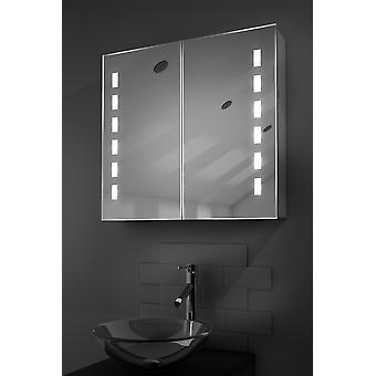 Sacha LED Bathroom Cabinet with Demister Pad, Sensor & Shaver k361