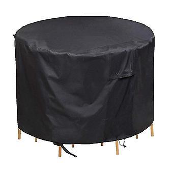 円形家具の防塵および防水カバー、屋外の庭のテーブルの家具の保護