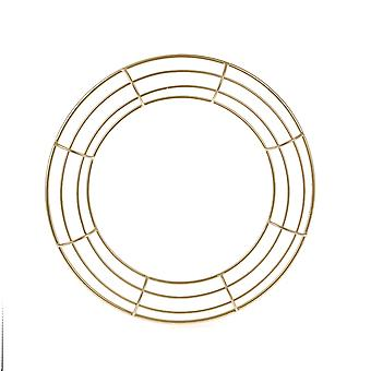 30cm Premium Quality Gold Colour Metal Wreath Form Frame for Floristry