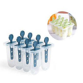 Reusable Popsicle Maker Ice Cream Tool 8 Lollipop Mold Tray Dessert Mold