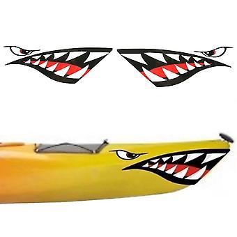2Pc kajak sticker waterdichte haai tanden mond stickers sticker kano rubberboot marine boot auto truck