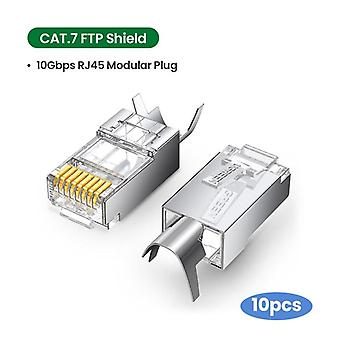 Liitin 8p8c modulaarinen ethernet-kaapelipään pistoke kullattu kissa 6 puristinverkko rj 45 puristinliitin cat6