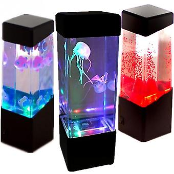 Lampe de chevet led veilleuse changement de couleur méduse aquarium aquarium lampe led relaxation ambiance lumières lave lampe enfants cadeaux