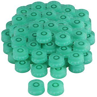 Guitar fittings parts green transparent electric guitar speed knob with white number set of 200