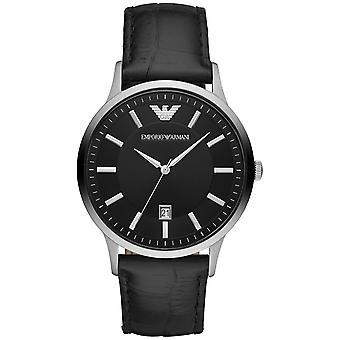 Emporio Armani Men's Renato Black Dial Watch - AR11186