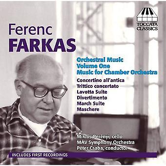 Farkas - Farkas: Orchestral Music Vol. 1-Music for Chambe [CD] USA import