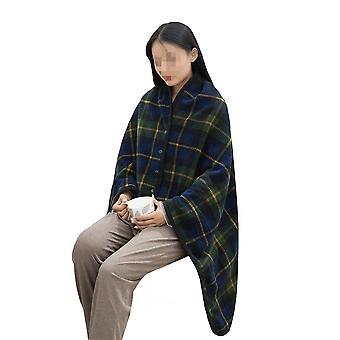 קייפ צמר לנשים רך במיוחד סופר חם צעיף קטיפת לזרוק שמיכה צעיף צוואר כתף שמיכה כרית