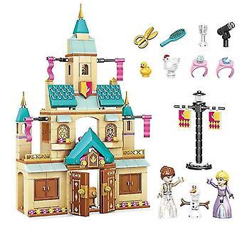 Età 3+, 360 pezzi disney frozen principessa elsa e anna costruzione modelli blocchi set per bambini(2)