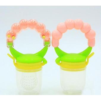 Modern non toxic toddler pacifier feeder and nibbler(Pink L)