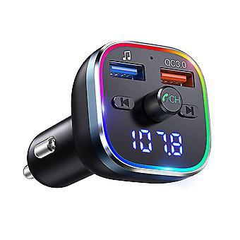Bluetooth Fm Auto Sender Musik-Player Radio Adapter USB-Ladegerät mit Umgebungslicht