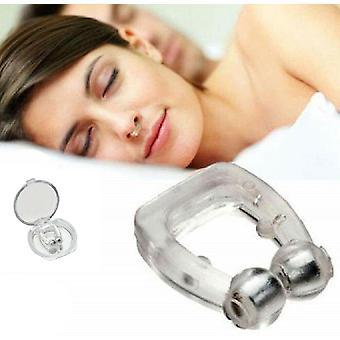 4 pakkaus silikoni leike magneettinen anti kuorsaus lopettaa kuorsaus nose clips nukkuminen apua