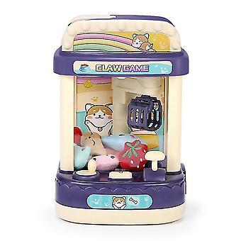 男の子の女の子のためのカラエレ爪マシンアーケードゲームおもちゃコイン操作電気クリップ人形おもちゃギフト