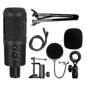 6 hüvelykes gyűrűs lámpa és USB mikrofon, amely alkalmas média streaming és videók felvételére.