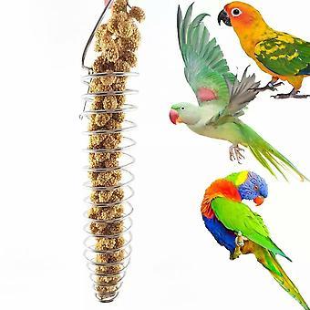 Rozsdamentes acél papagáj madár gyűjtögető kosár-lehet tartani gyümölcsök, kukorica és zöldségek