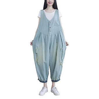 Woman Oversize Overalls Demin Demin Pants