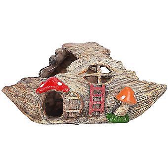 אקווריום טנק רוקרי עץ בית שרף נוף הר תפאורה
