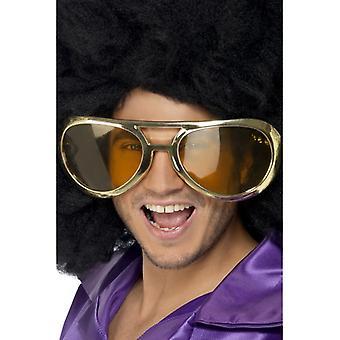 Gigante de óculos óculos disco discoteca dos anos 70 piada óculos adulto