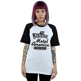 Amerikan Tanrıları Kadınlar's Motel Amerika Beyzbol T-Shirt