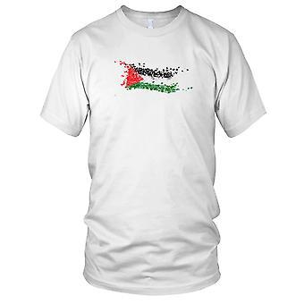 Palestinas flagg Grunge effekt Gaza Kids T skjorte