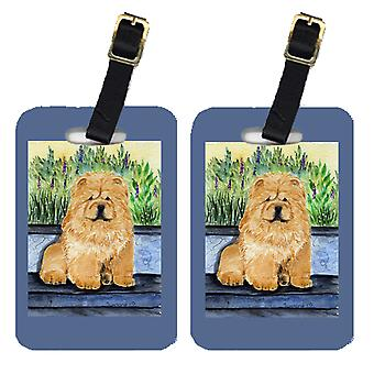 Carolines Treasures  SS7002BT Pair of 2 Chow Chow Luggage Tags