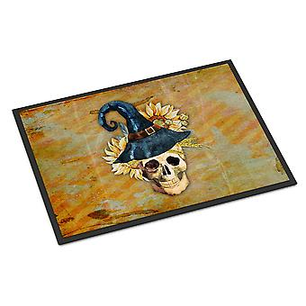 Day of the Dead Witch Skull  Indoor or Outdoor Mat 18x27