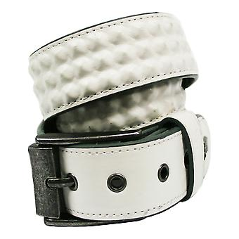 Lowlife Cover Up Leather Belt in White
