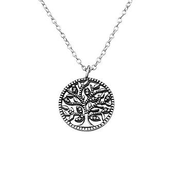 Tree Of Life - 925 Sterling Silver Jewelled Necklaces - W30453X