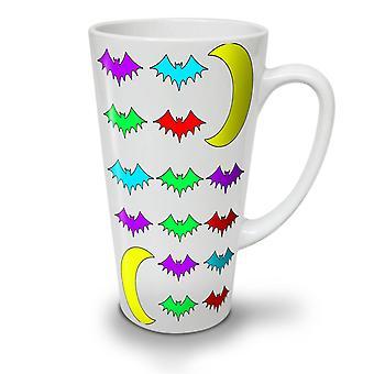 Dyr Bat natt nye hvit te kaffe keramiske Latte krus 12 oz | Wellcoda