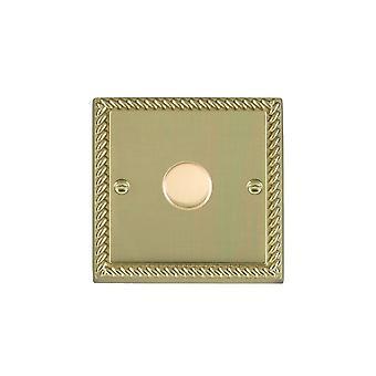 Hamilton Litestat Cheriton Georgian Polished Brass 1g 400W 2 Way Dimmer PB