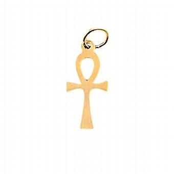9ct Gold 17x9mm plain Ankh or Peace Cross