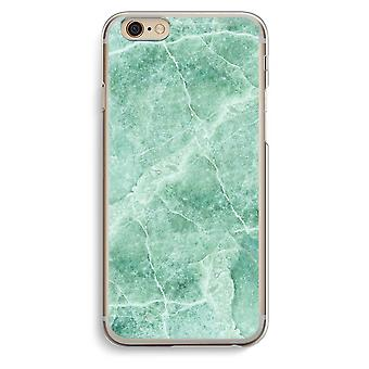 IPhone 6 6s transparant Case (Soft) - groen marmer