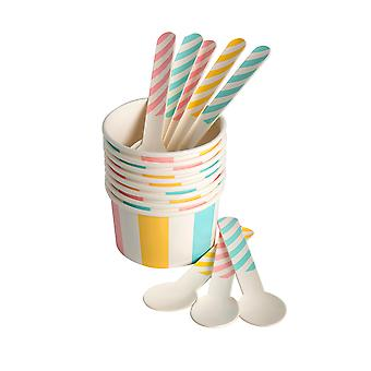 Eddingtons Paper Ice Cream Tubs and Spoons