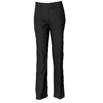 Henbury Womens Flat Front Bootleg Formal Work Trousers