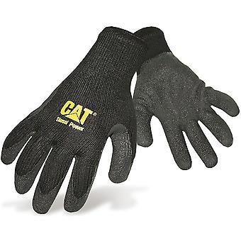 Mens vêtements de travail Workwear CAT poignet paume Latex gants en tricot