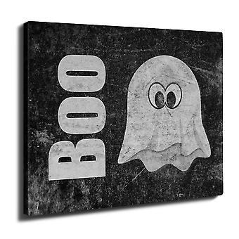 Ghost sarjakuva söpö Wall Art piirtoalustan 40 cm x 30 cm | Wellcoda