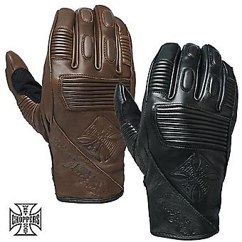 West Coast choppers mens gloves BFU leather Rinding glove