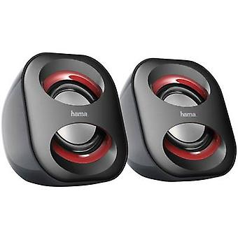 Hama Sonic Mobil 183 2.0 PC speaker Corded 3 W Black/red