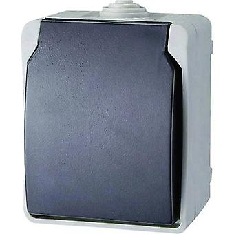GAO 9871 Wet room switch product range PG socket Standard Grey