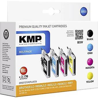 KMP encre remplacé Brother LC-985 Compatible Set noir, Cyan, Magenta, jaune B33V 1523,0050